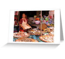 Chiang Mai Market, Thailand Greeting Card