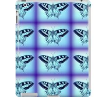 moths in blue iPad Case/Skin