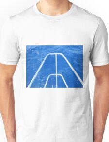 Sailboat bow view of Water Unisex T-Shirt