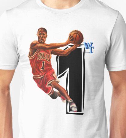 Derrick Rose Red Unisex T-Shirt