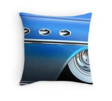 Classic Blue Sparkle  Throw Pillow