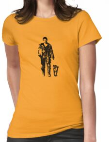 One man and his dog.... Womens Fitted T-Shirt