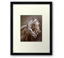 Arab Mare and Foal. Framed Print