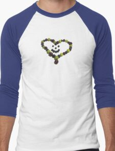 Berry Nice Heart Men's Baseball ¾ T-Shirt