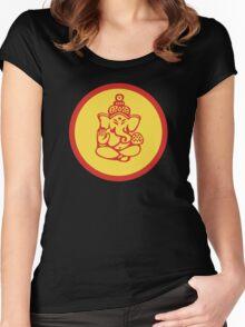 Yoga Ganesh T-Shirt Women's Fitted Scoop T-Shirt