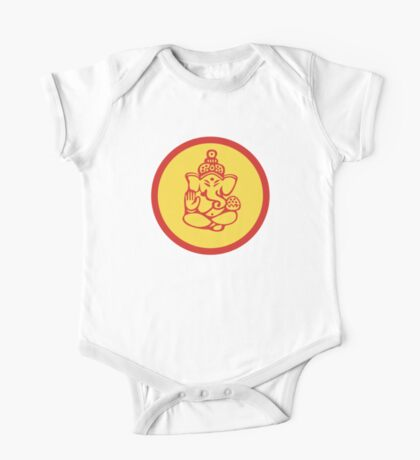 Yoga Ganesh T-Shirt One Piece - Short Sleeve