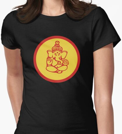 Yoga Ganesh T-Shirt Womens Fitted T-Shirt