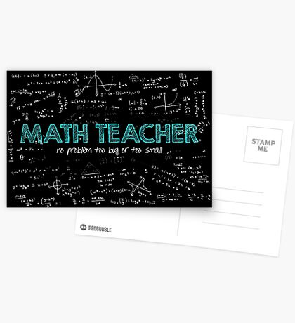Math Teacher (no problem too big or too small) Greeting Card