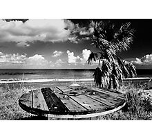 Cyprus Beach Bar Photographic Print