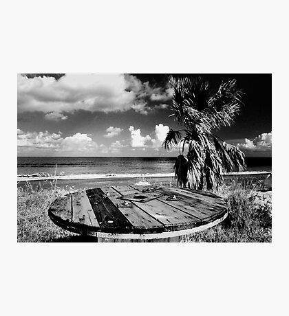 Cyprus Beach Bar Photographic Print