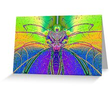 Fractal Insect Greeting Card