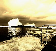 Storm swell 2 in Sepia by Ian Robinson