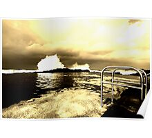 Storm swell 2 in Sepia Poster