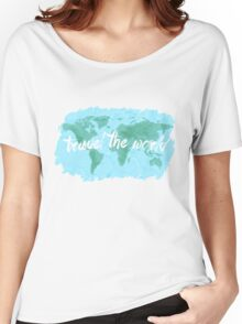 Travel the World watercolor Women's Relaxed Fit T-Shirt