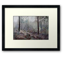 A Wickham Misty Morning Framed Print