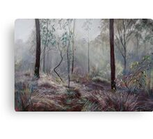 A Wickham Misty Morning Canvas Print