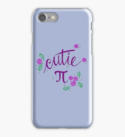 Cutie Pi (Purple) iPhone Case/Skin