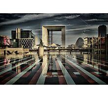 La Défense at Paris. Photographic Print