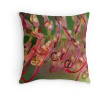 Spring Grevillea Throw Pillow