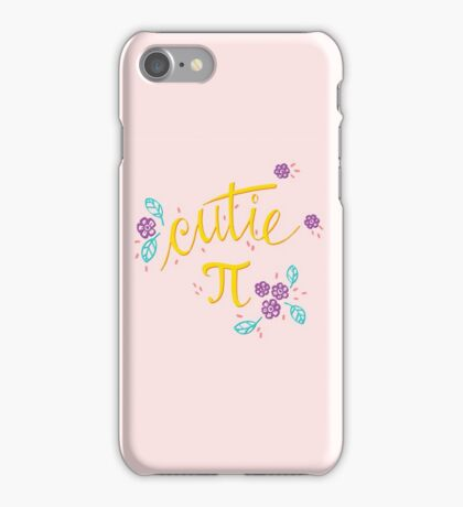 Cutie Pi (Pink) iPhone Case/Skin