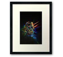 Glass skull blasting through the color wall Framed Print