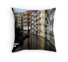 TYPICAL AMSTERDAM CANAL Throw Pillow