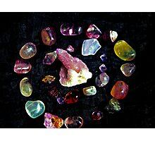 crown  chakra stones  Photographic Print