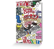 Broadway Shows collage Greeting Card