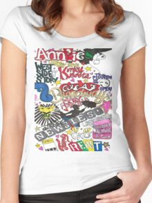 Broadway Shows collage Women's Fitted Scoop T-Shirt