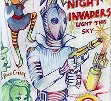 Night Invaders Light The Sky by John Dicandia  ( JinnDoW )