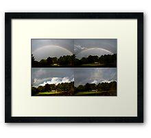 Morning Rainbow Progression Framed Print