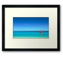 Red Sail Blue Water - Cocos (Keeling) Islands Framed Print
