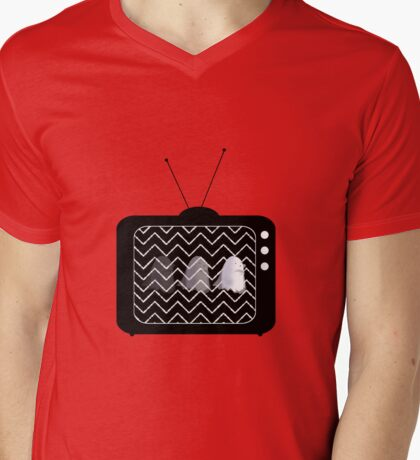Ghostly Viewing Figures Mens V-Neck T-Shirt