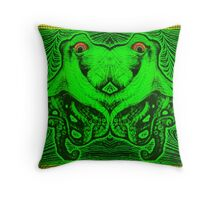 Psychedelic Octopus Optical Illusion Design Throw Pillow