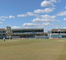 Panorama - Start of play after lunch..... by Bob Culshaw