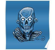Zombie Skull Head Poster