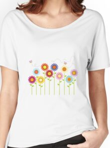 Colorful Garden Women's Relaxed Fit T-Shirt