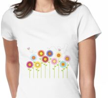 Colorful Garden Womens Fitted T-Shirt