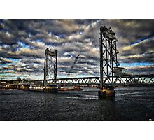 Portsmouth, NH As a Front Moves In Photographic Print