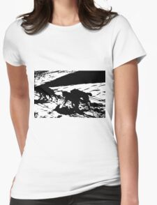 Sled Dogs in Prescott Park, Portsmouth, NH Womens Fitted T-Shirt