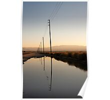 Telephone Pole Reflection Poster