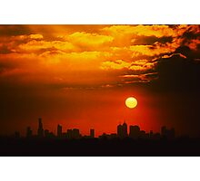 hot summer sky Photographic Print