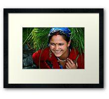 Gadhwali Woman Framed Print