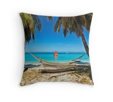 Red Sail and Hammock Throw Pillow