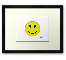 Have A Nice Day /s Framed Print
