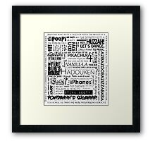 Medieval Land Fun-time Quote Block, Black Framed Print