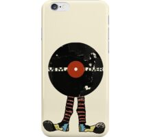 Funny Vinyl Records Lover - Grunge Vinyl Record iPhone Case/Skin