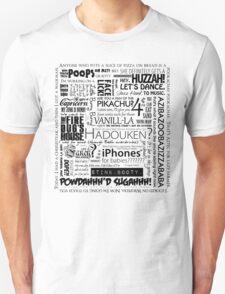 Medieval Land Fun-time Quote Block, Black T-Shirt