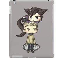 more than just his fur is clinging to John. iPad Case/Skin