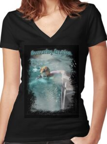 Mermaid Tales II Women's Fitted V-Neck T-Shirt